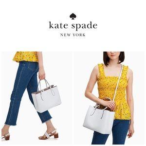 NWT Kate Spade Harper White Satchel